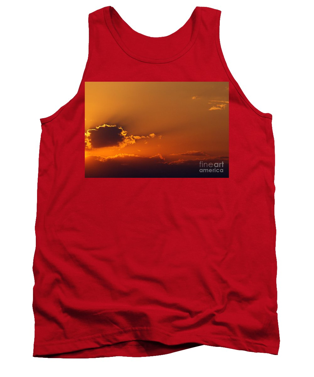 Sunset Tank Top featuring the photograph No Mountains No Sun by Alan Look