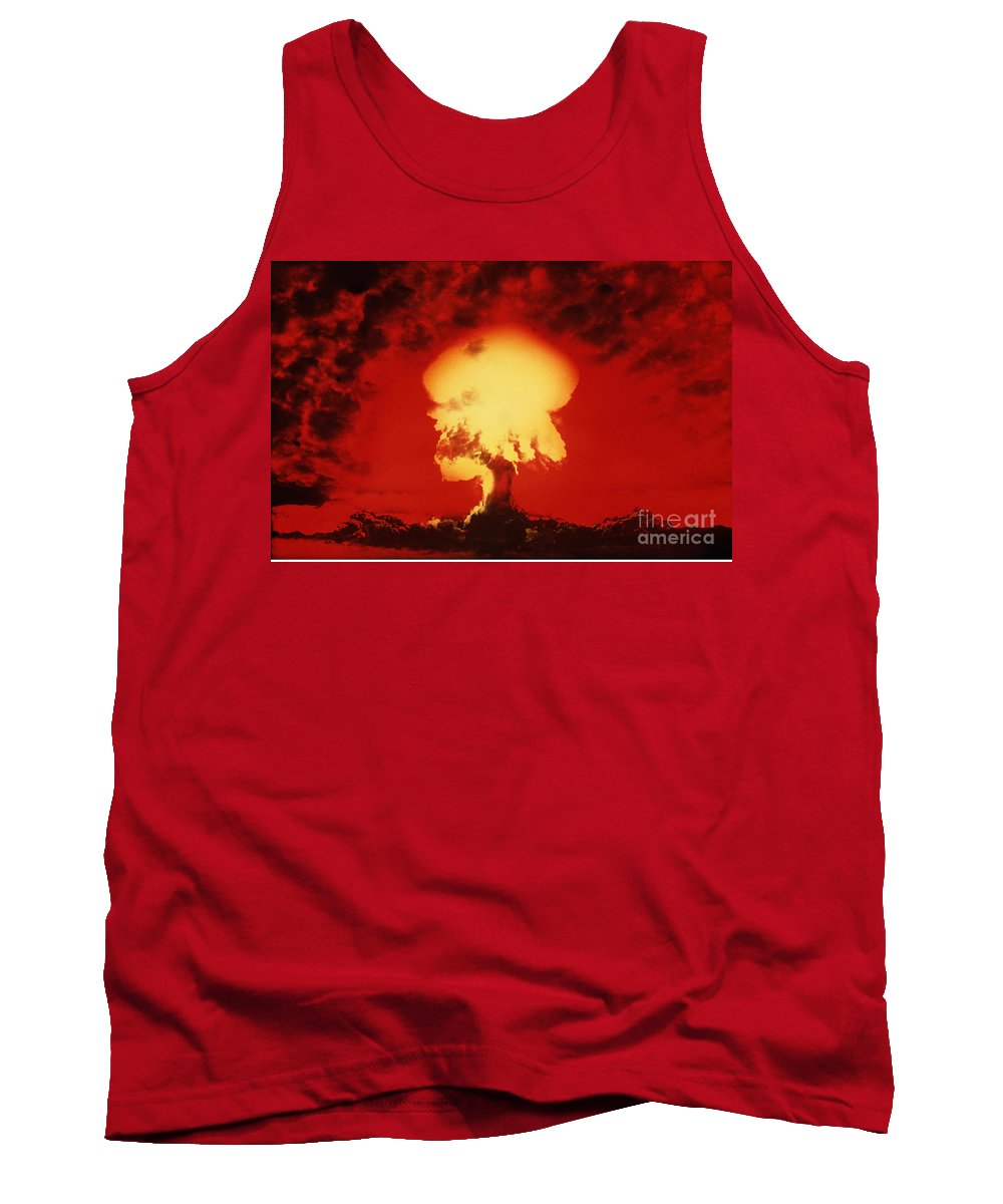 Nuclear Explosion Tank Top featuring the photograph Nuclear Explosion by U.S. Navy / Science Source