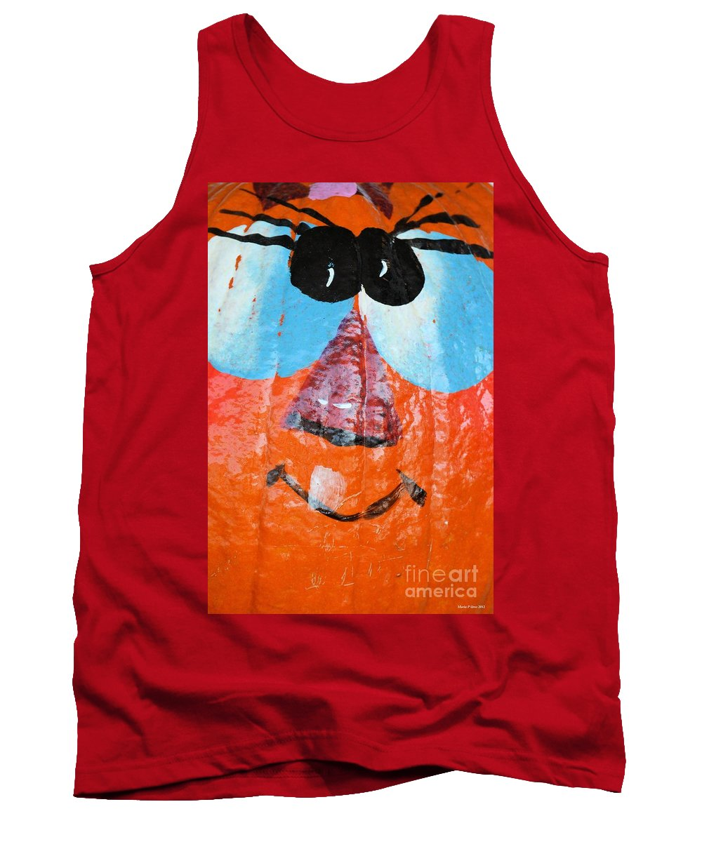 Painted Pumpkin 1 Tank Top featuring the photograph Painted Pumpkin 1 by Maria Urso