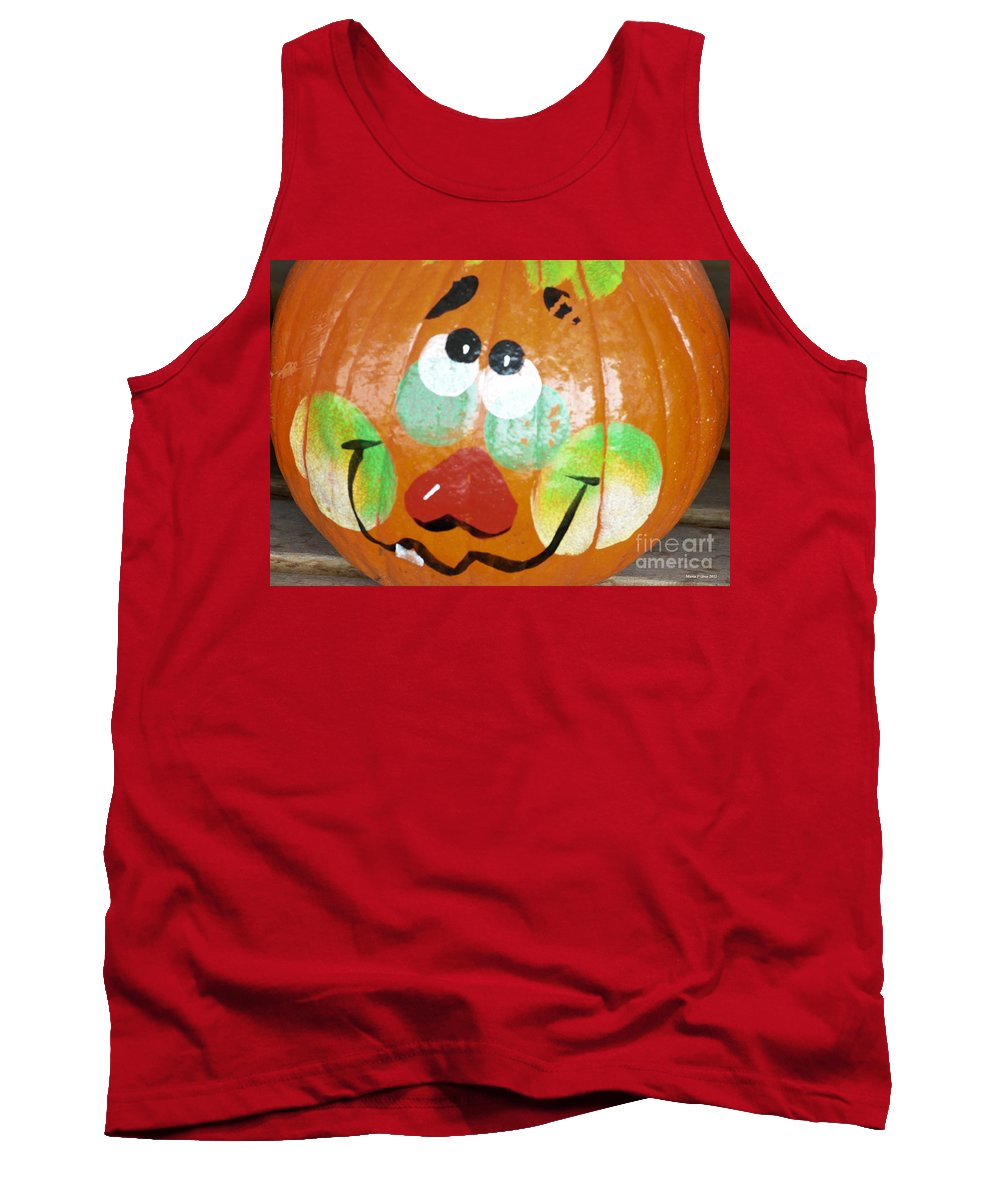 Painted Pumpkin 3 Tank Top featuring the photograph Painted Pumpkin 3 by Maria Urso