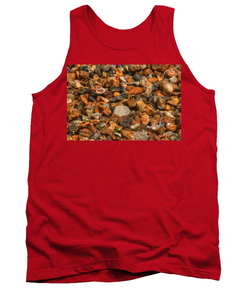 Pebbles Tank Top featuring the photograph Pebbles And Stones On The Beach by Chris Day