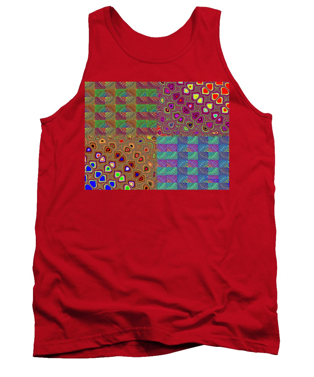 Quilt Tank Top featuring the digital art Quilted Fractals by Ericamaxine Price