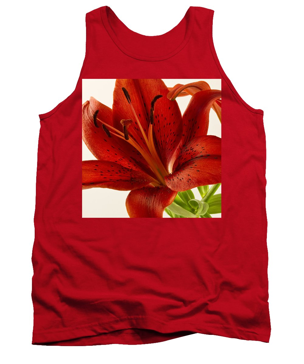 Asiatic Lily Tank Top featuring the photograph Red Lily Number Two by Bill Swindaman
