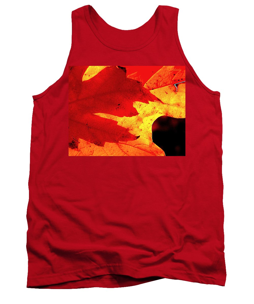 Leaves Tank Top featuring the photograph Red On Gold by Chris Berry