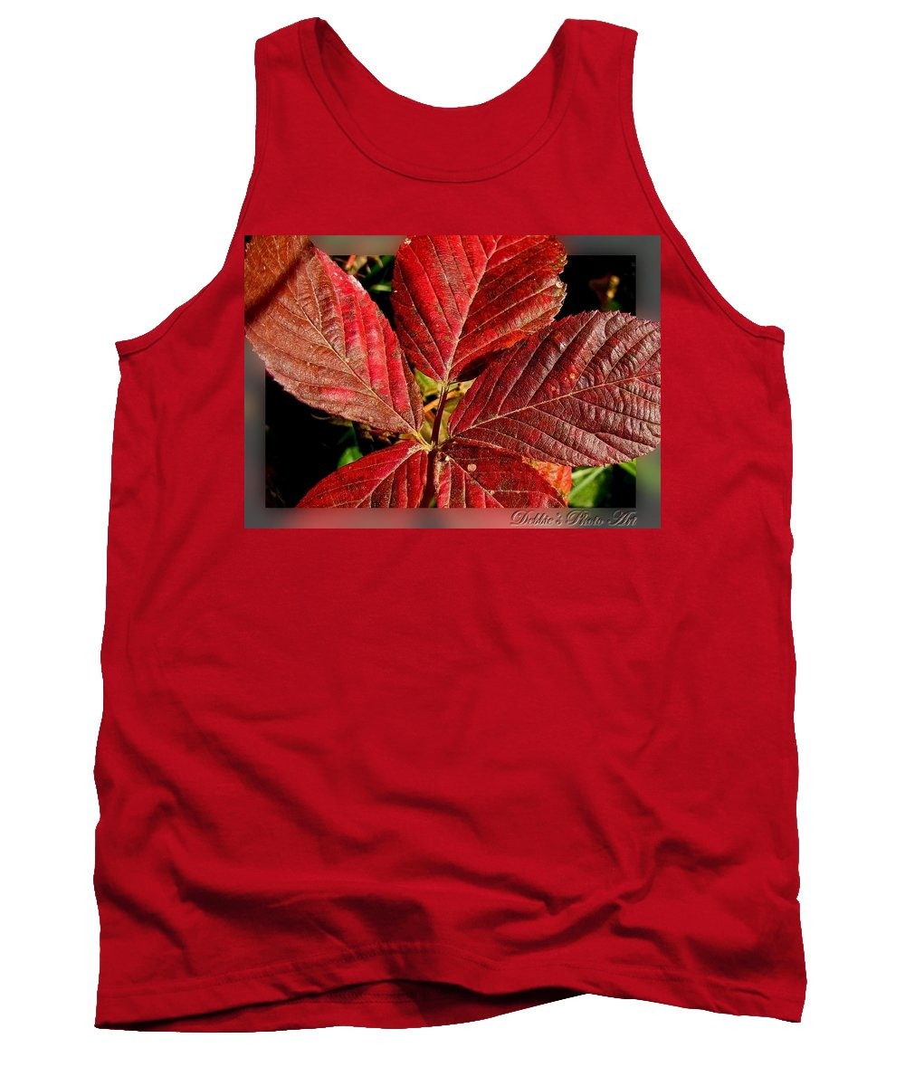Botanical Tank Top featuring the photograph Red Quintete by Debbie Portwood