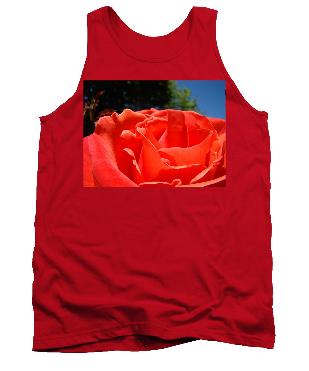 Rose Tank Top featuring the photograph Red Rose Flower Fine Art Prints Roses Garden by Baslee Troutman