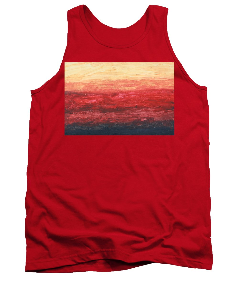Tank Top featuring the painting Red Sky by Terry Burke