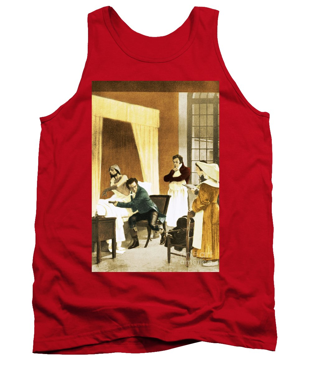 History Tank Top featuring the photograph Rene Laennec, French Physician by Science Source