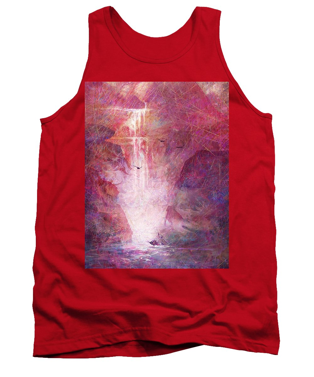 River Of Life Tank Top featuring the digital art River Of Life by Rachel Christine Nowicki
