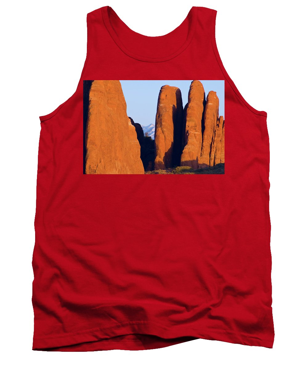 Utah Tank Top featuring the photograph Sandstone Fins by Steve Stuller