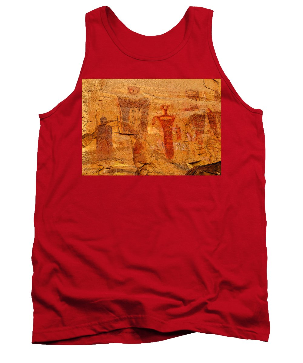 Art Tank Top featuring the painting Shamans Of The Rock by David Lee Thompson