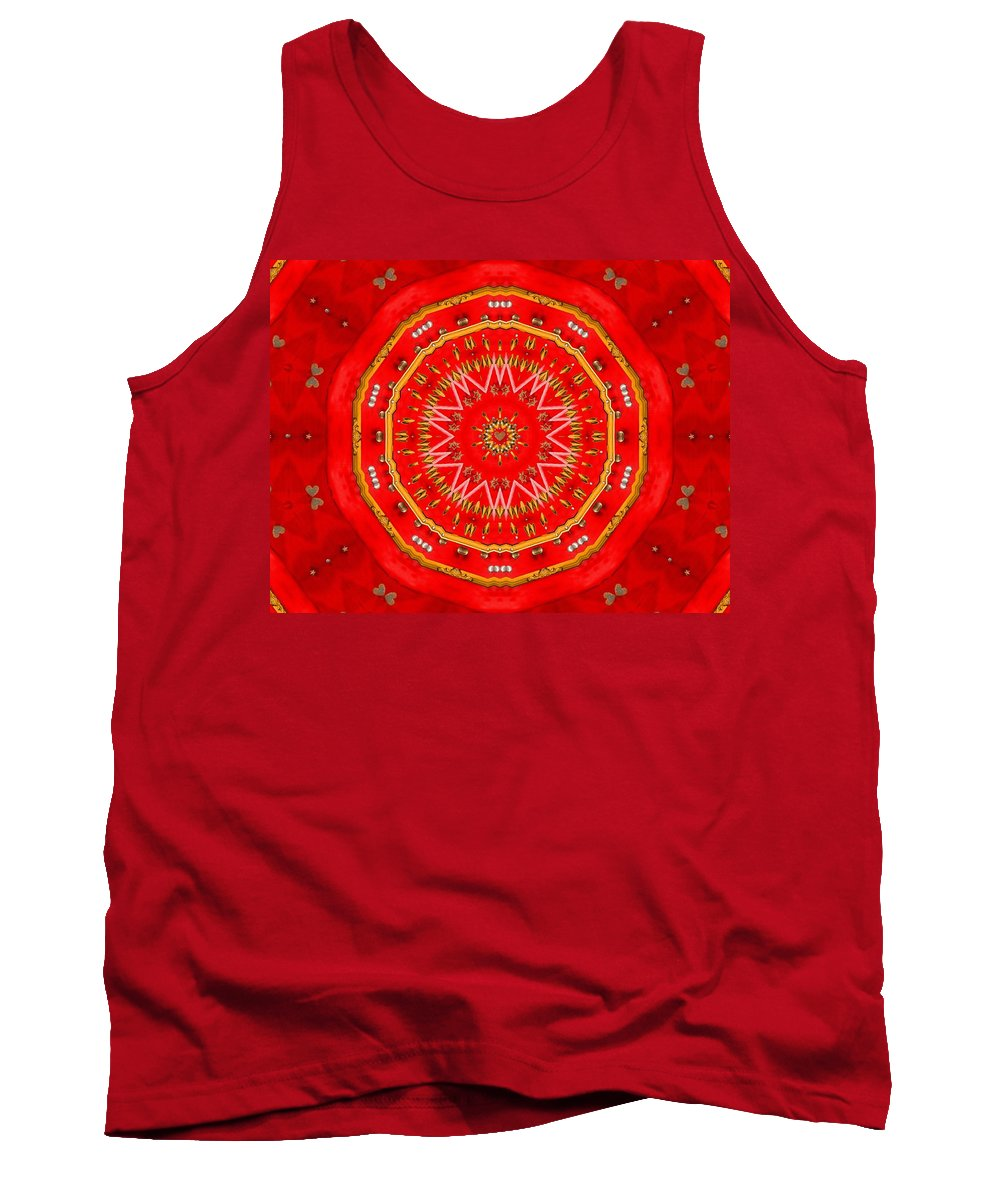 Stars Tank Top featuring the mixed media Star Cookie Art by Pepita Selles