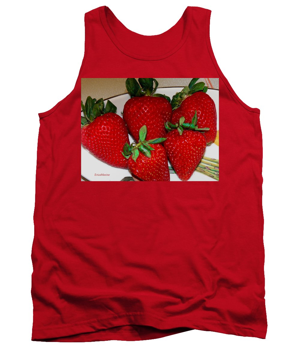 Strawberries Tank Top featuring the photograph Strawberries by Ericamaxine Price