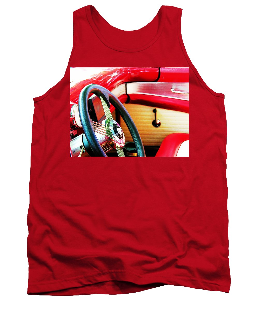 Steering Wheel Tank Top featuring the photograph Sunday Driver by Adam Vance