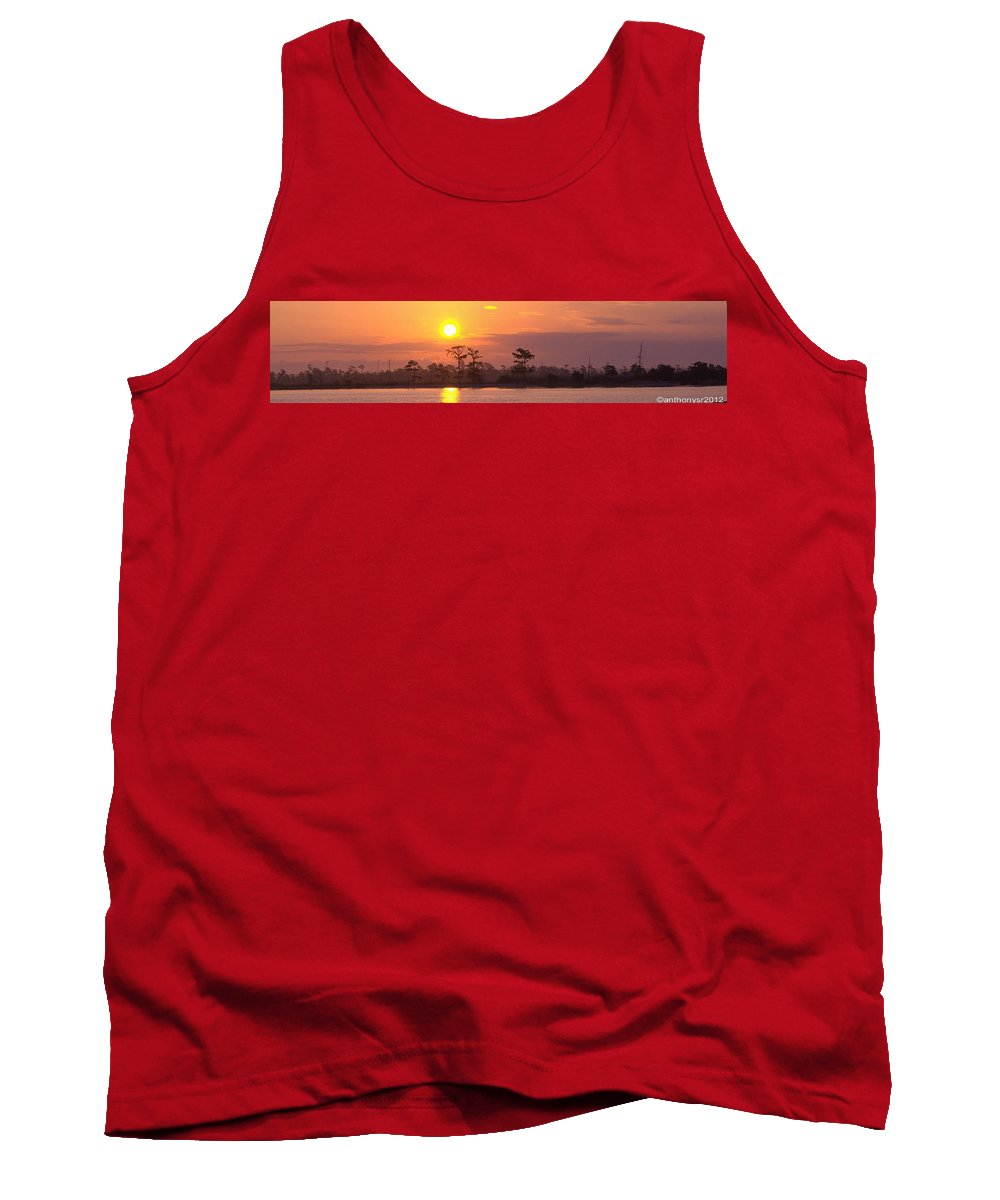 River Tank Top featuring the photograph Sunrise Over The River by Anthony Walker Sr