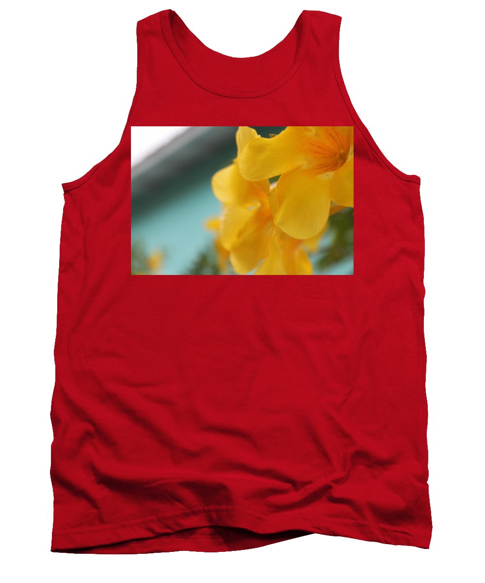 Tropical Flower Tank Top featuring the photograph Sunshine Flower by Catie Canetti