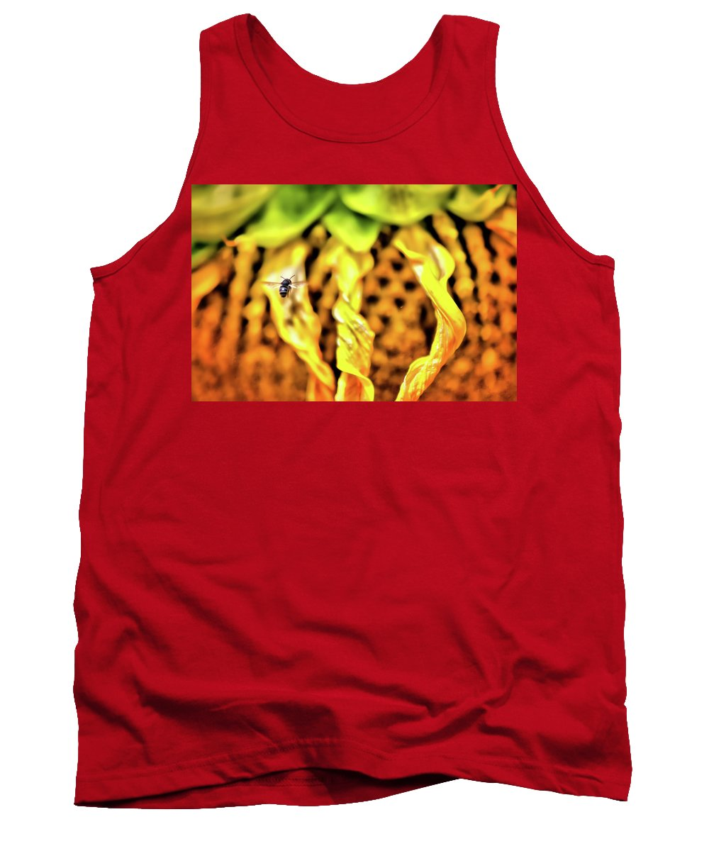 Sunflower Tank Top featuring the photograph The 300 Sunflower by Sarah Wiggins