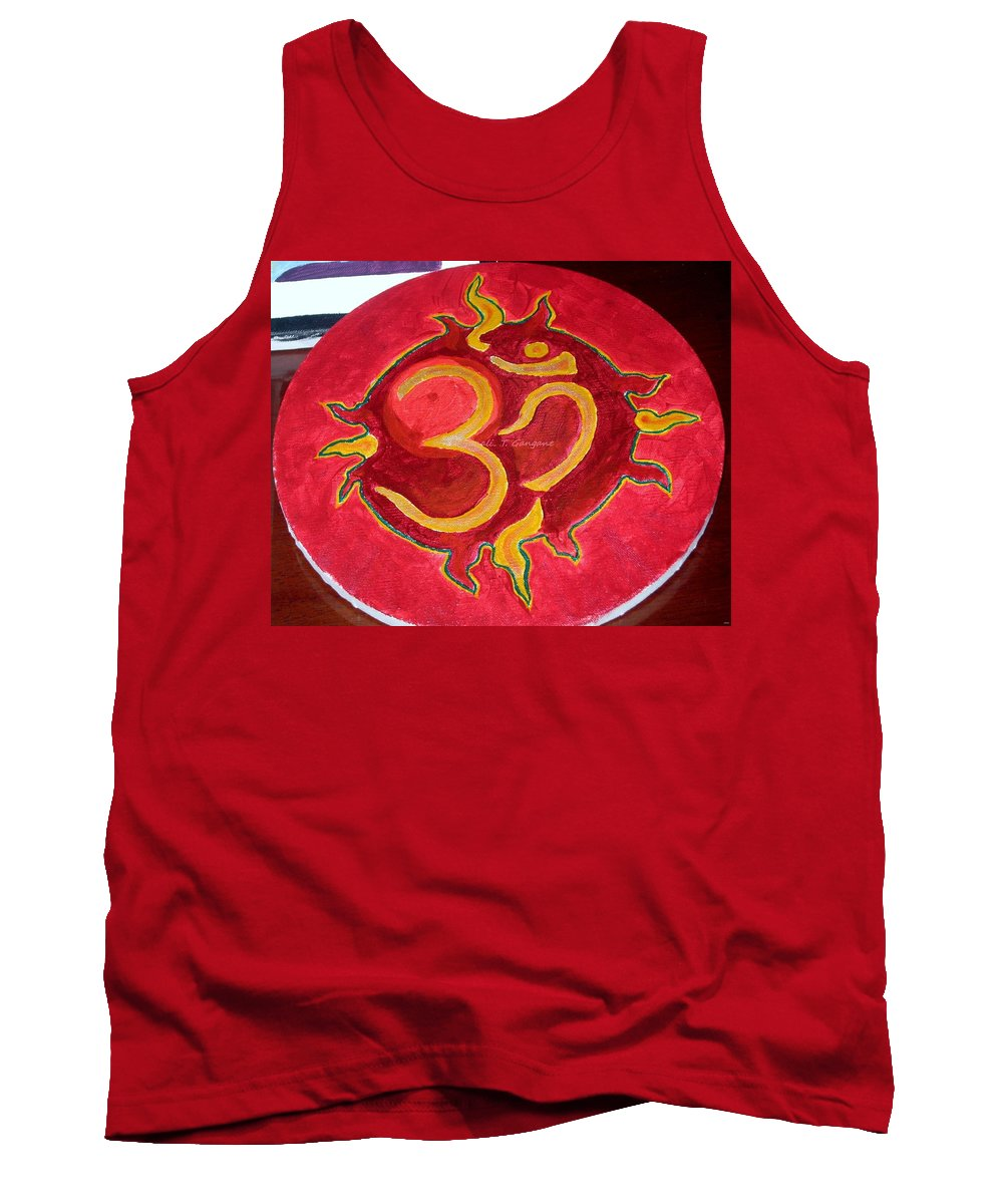 Divine Aum Tank Top featuring the painting The Omnipotent Aumkar by Sonali Gangane