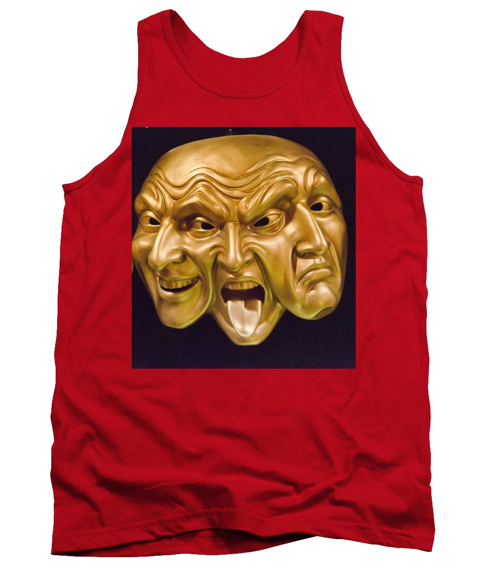 Three Faces Tank Top featuring the photograph Three Faces by Jon Berghoff
