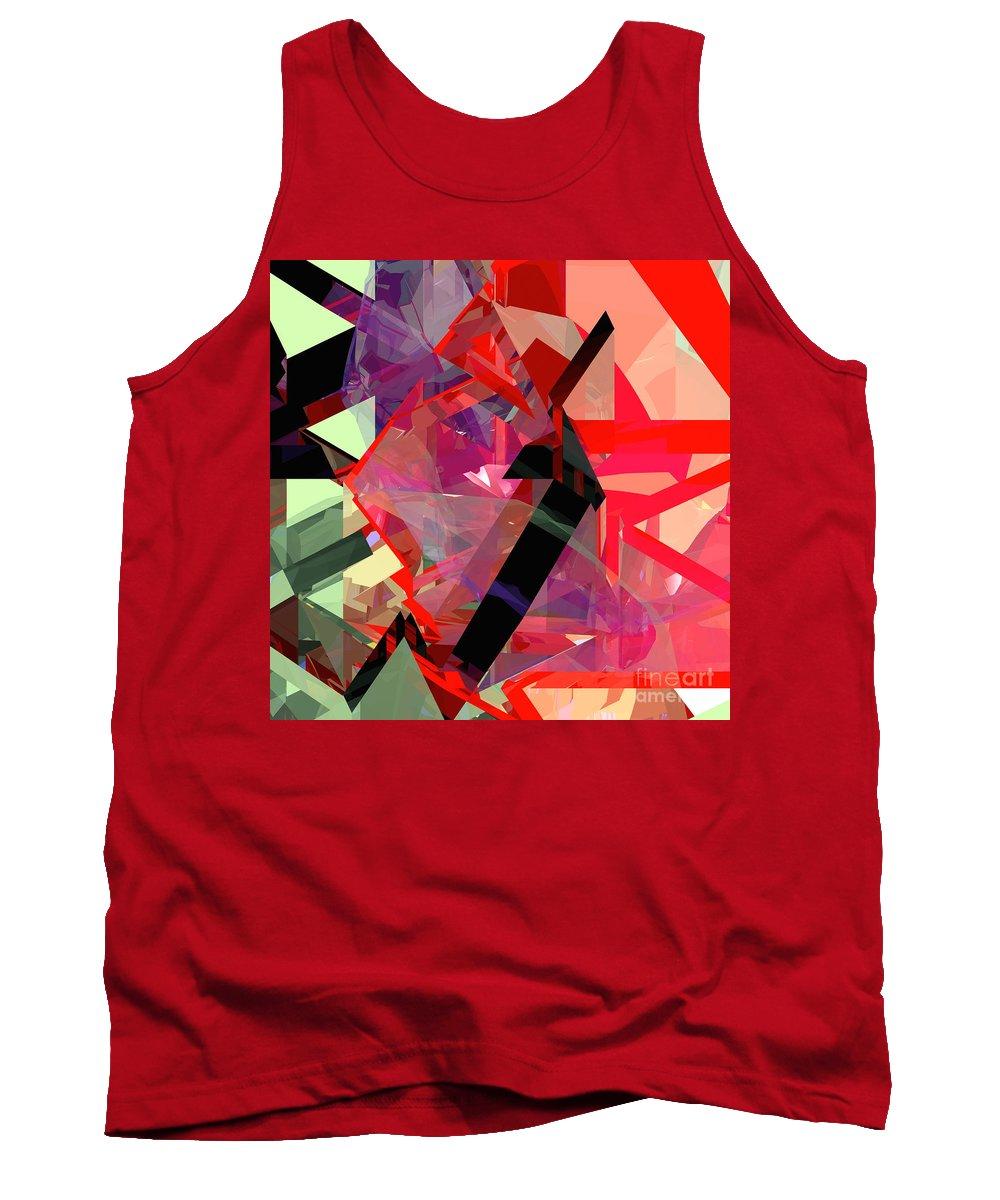 Abstract Tank Top featuring the digital art Tower Poly 14 by Russell Kightley
