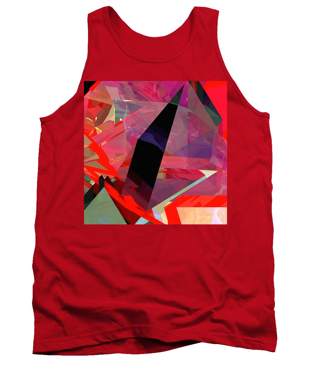Abstract Tank Top featuring the digital art Tower Poly 18 by Russell Kightley