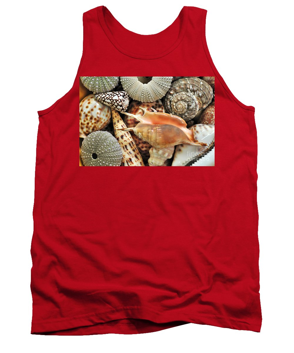 Photography Tank Top featuring the photograph Tropical Shells by Kaye Menner
