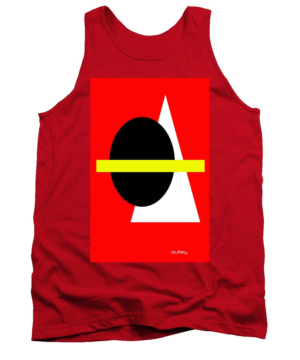 Post Constructivism/geometric Digital Drawings Tank Top featuring the photograph Untitled Ch 6 by Doug Duffey