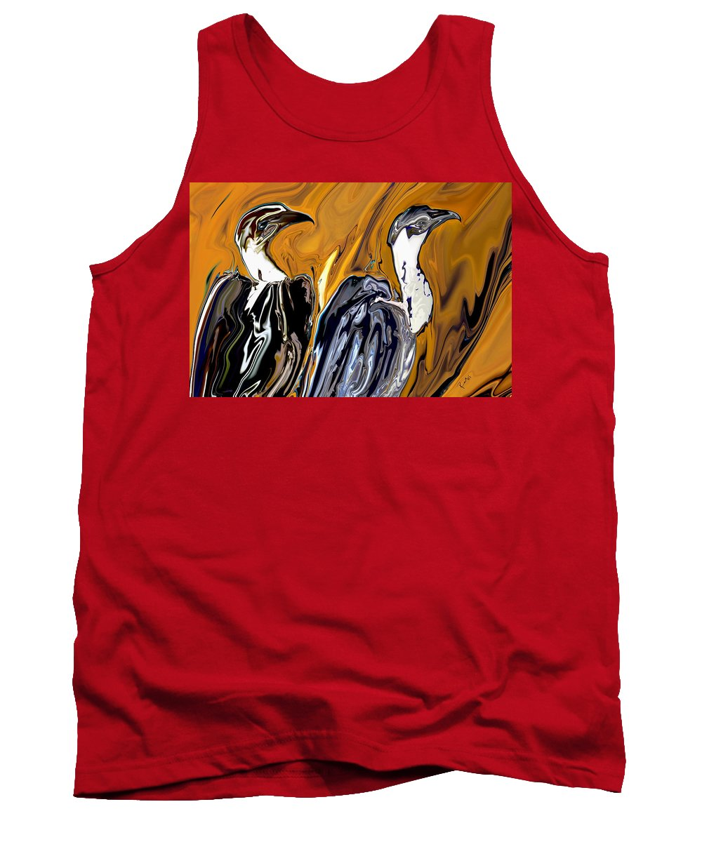 Wild Life Tank Top featuring the painting Vulture by Rabi Khan