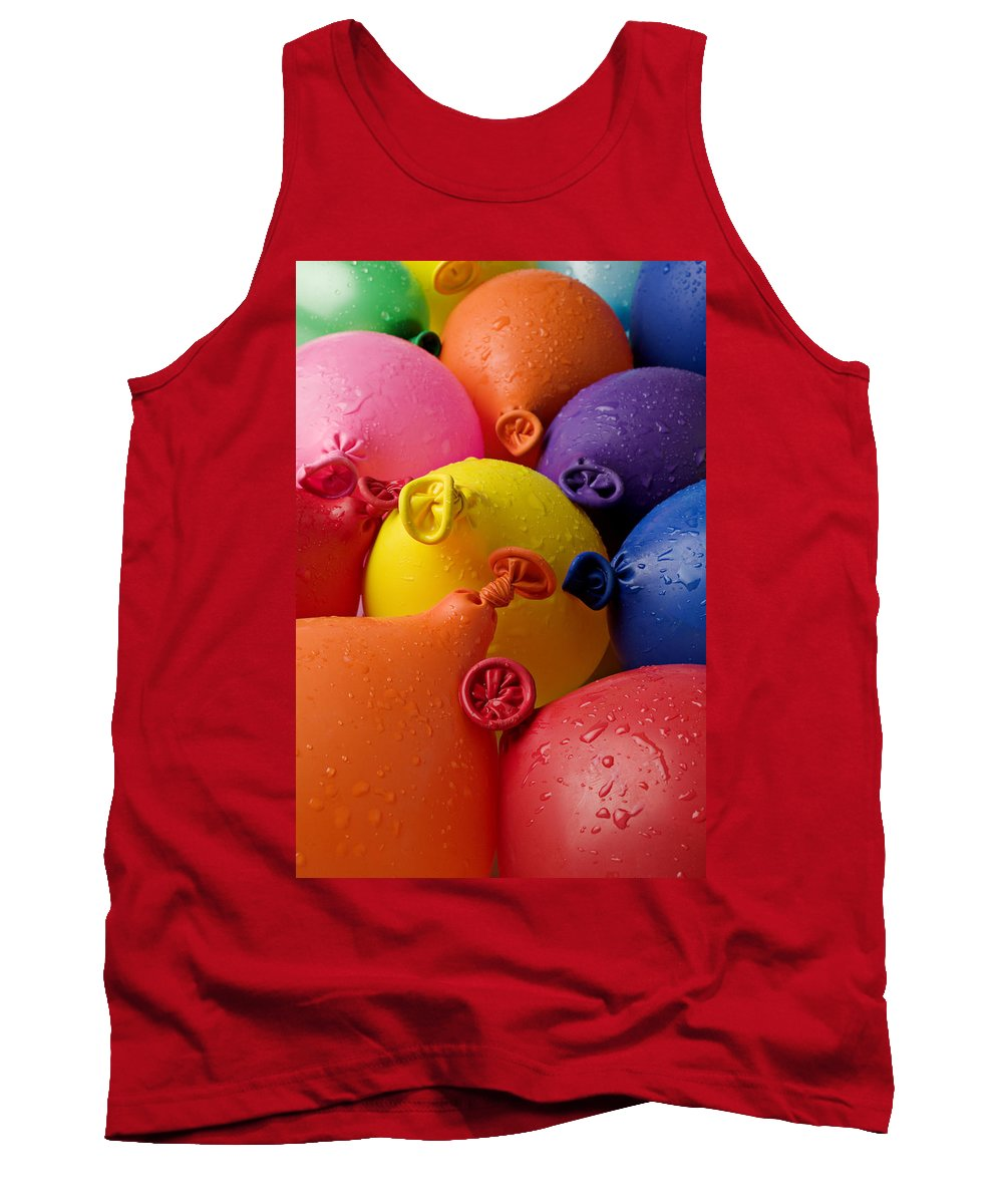 Balloon Tank Top featuring the photograph Water Balloons by Garry Gay