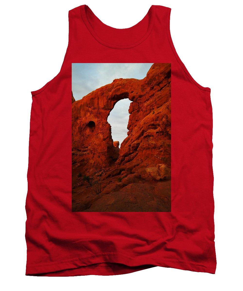 Landscape Tank Top featuring the photograph Windows by Jeff Swan