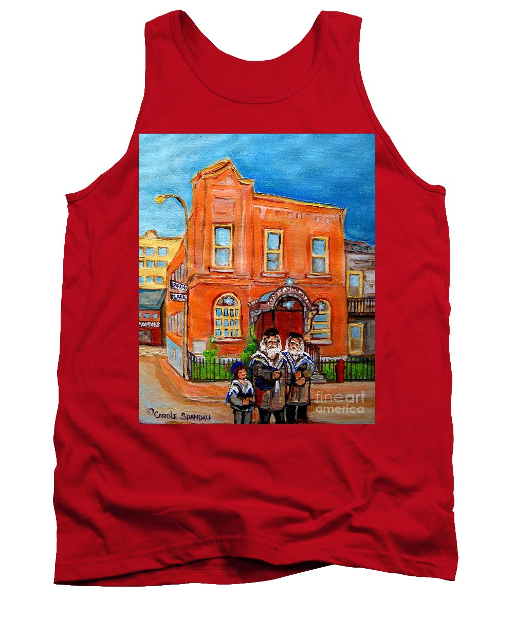 Beautiful Synagogue On Bagg Street Tank Top featuring the painting Beautiful Synagogue On Bagg Street by Carole Spandau