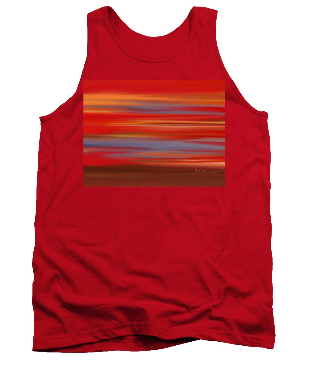 Abstract Tank Top featuring the digital art Evening In Ottawa Valley by Rabi Khan