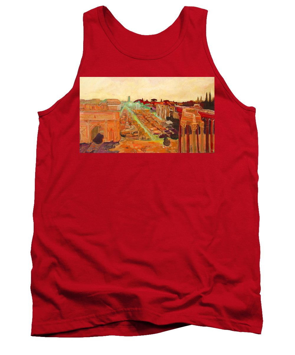 Rome Tank Top featuring the painting Foro Romano by Kurt Hausmann