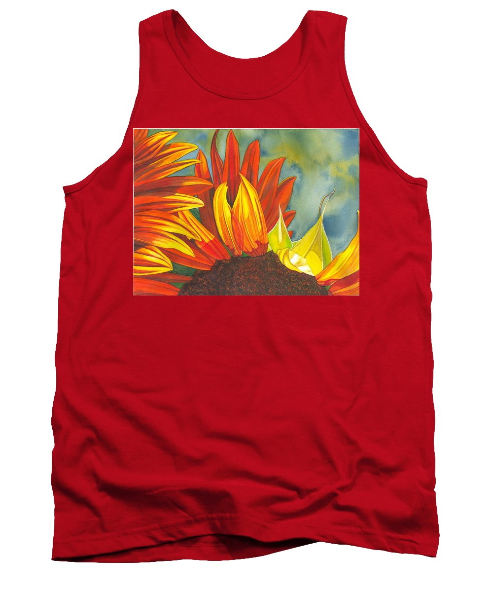 Sunflower Tank Top featuring the painting Ray by Catherine G McElroy