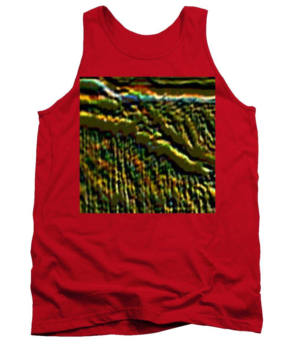 Canyons Tank Top featuring the digital art South Rim- N -green Grandeur by Brenda L Spencer
