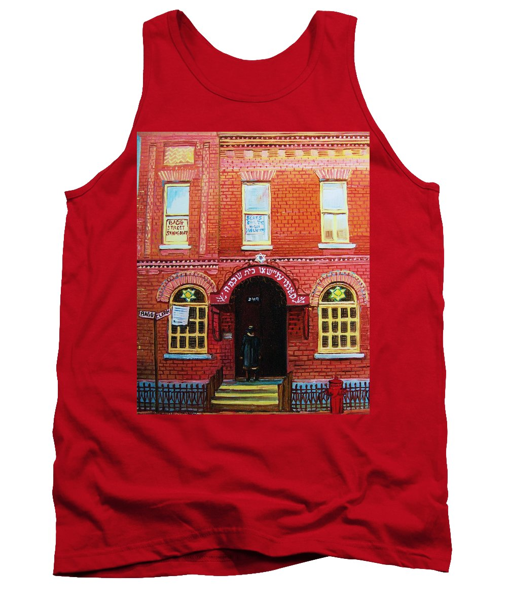 Synagogues Tank Top featuring the painting Temple Solomon Congregation by Carole Spandau