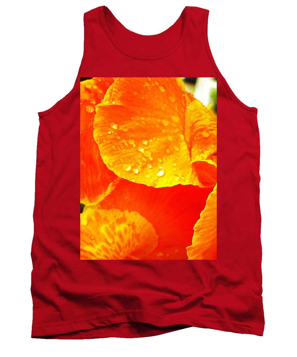 Flower Tank Top featuring the photograph After The Rain ... by Juergen Weiss
