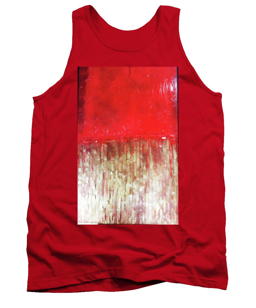 Ode To Slavery Tank Top featuring the painting Blood And Bone by Charis Kelley