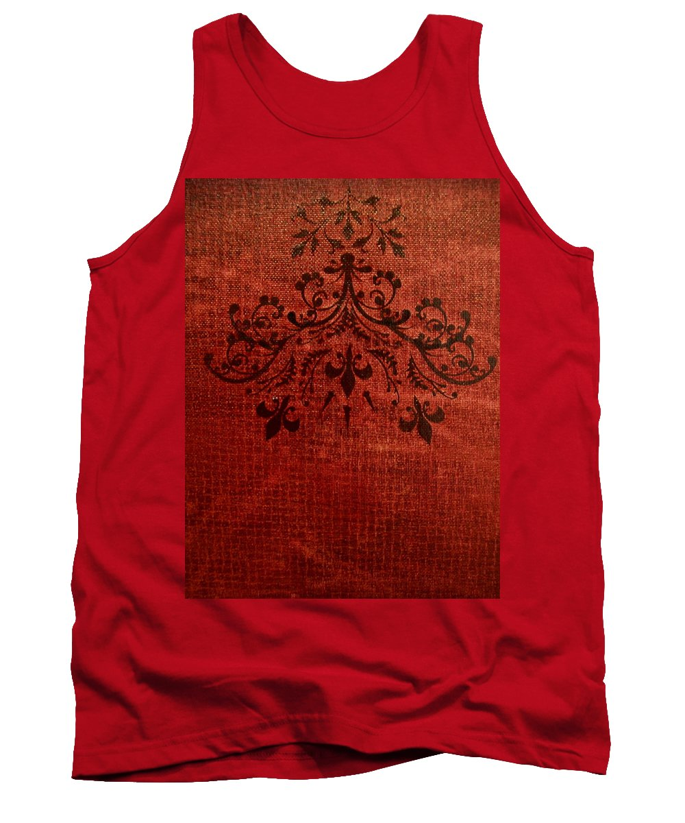 Red Tank Top featuring the painting Boudoir Two by Laurette Escobar