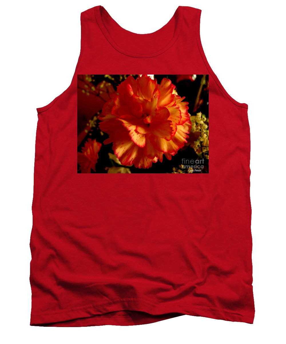 Patzer Tank Top featuring the photograph Carnation by Greg Patzer