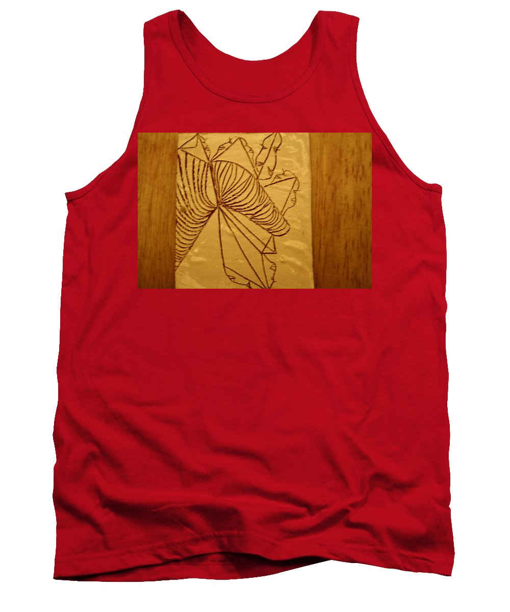 Jesus Tank Top featuring the ceramic art Changes - Tile by Gloria Ssali