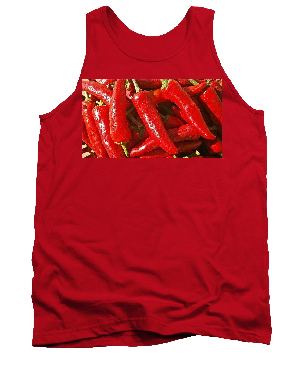 Chili Tank Top featuring the photograph Chili Peppers by FL collection