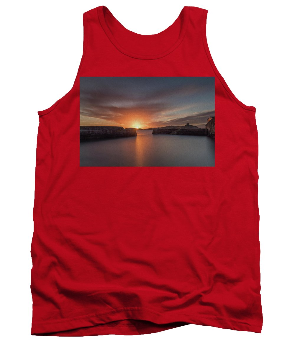 Sunrise Tank Top featuring the photograph Coliemore Harbour by Richard Patchell
