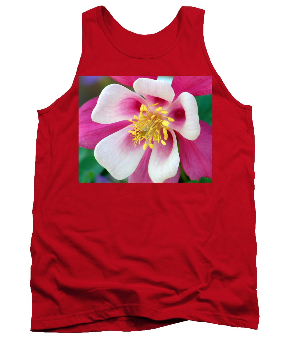 Columbine Tank Top featuring the photograph Columbine Flower 1 by Amy Fose