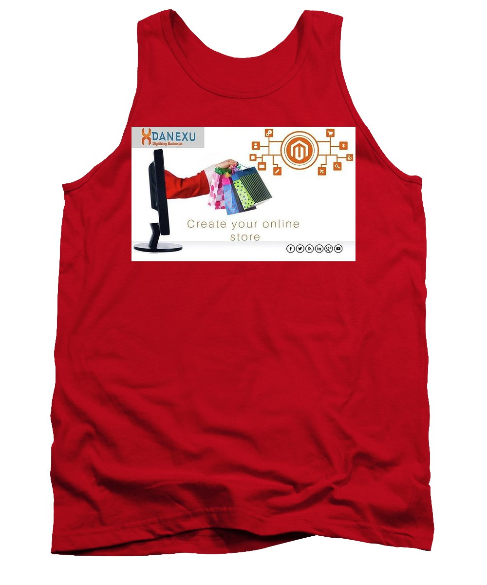Tank Top featuring the photograph Digital Marketing by Danexu