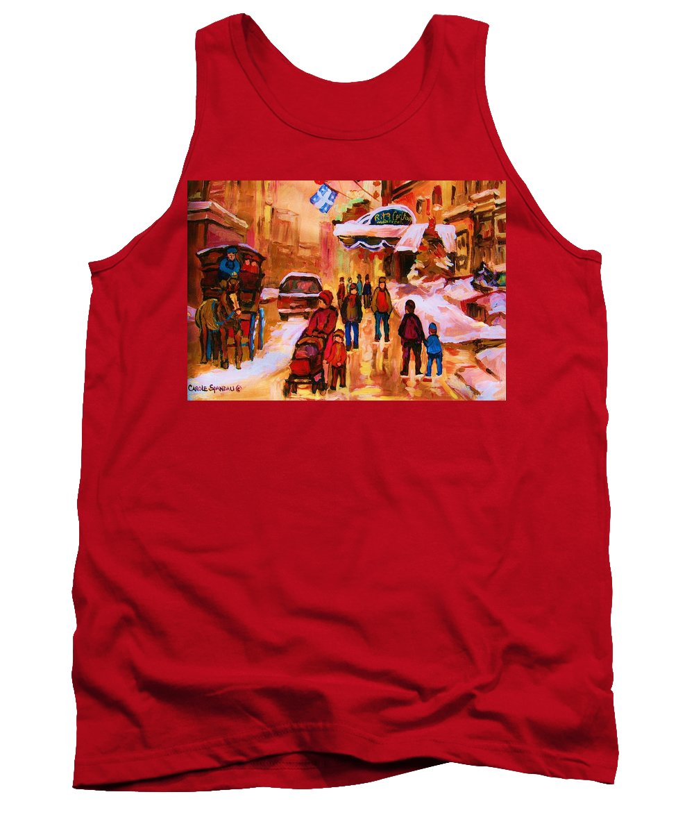 Downtown Montreal Tank Top featuring the painting Downtown Montreal by Carole Spandau