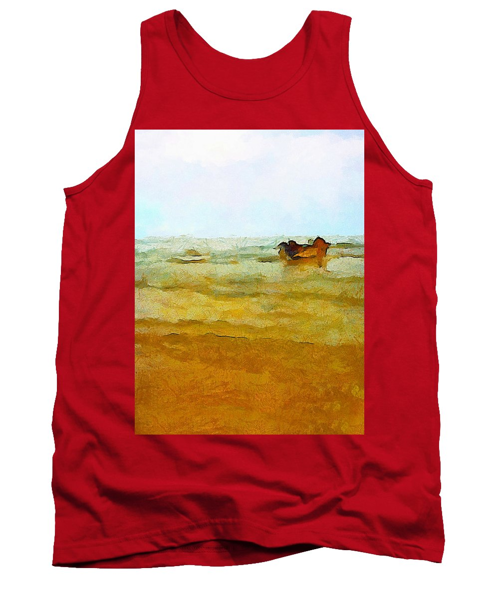 Abstract Tank Top featuring the photograph Fishing Boat by Galeria Trompiz