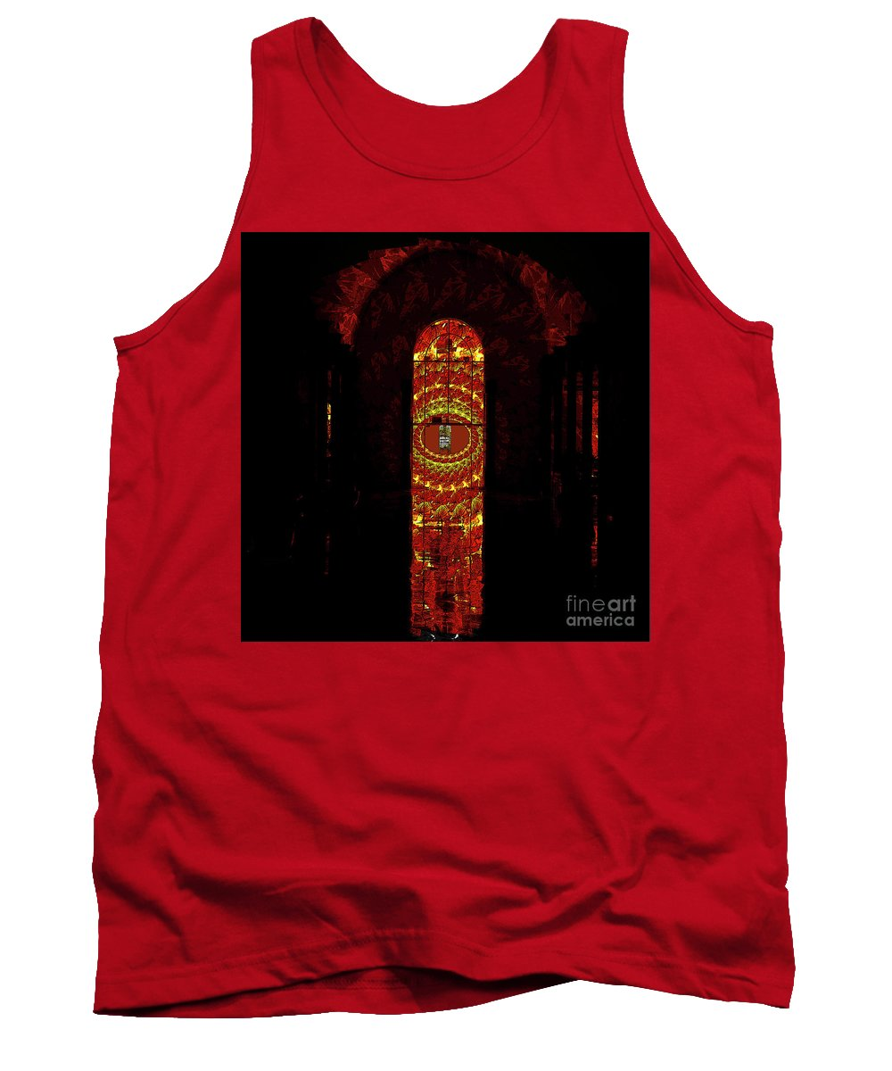 Door Tank Top featuring the mixed media Frugal by Jesus Nicolas Castanon