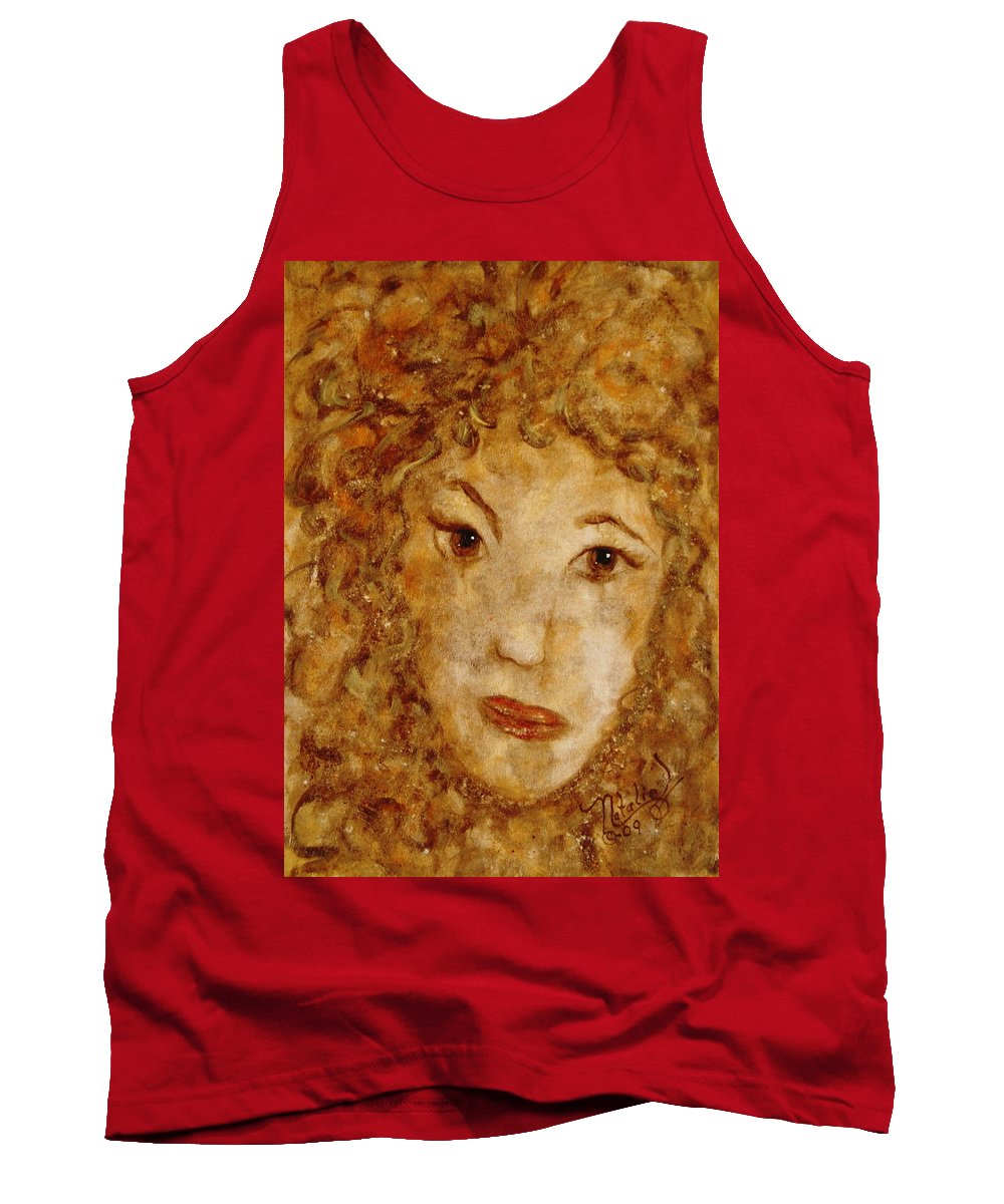 Free Expressionism Tank Top featuring the painting Gentle Lady by Natalie Holland