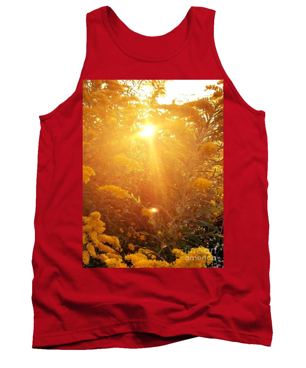 Golden Days Of Autumn Tank Top featuring the photograph Golden Days Of Autumn by Maria Urso